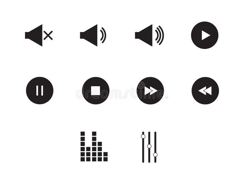 Odtwarzacz muzyczny ikon wektoru znaki ilustracji