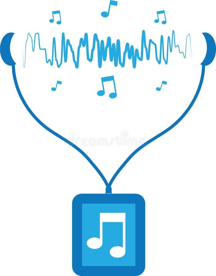 Odtwarzacz Muzyczny Soundwaves ilustracja wektor