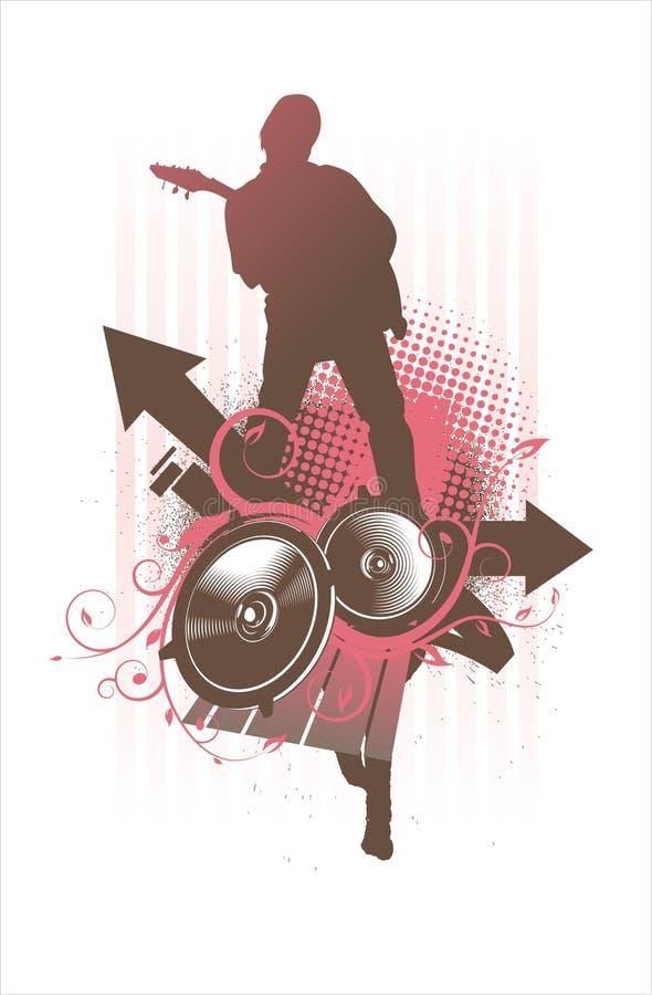 odtwarzacz muzyki. ilustracja wektor