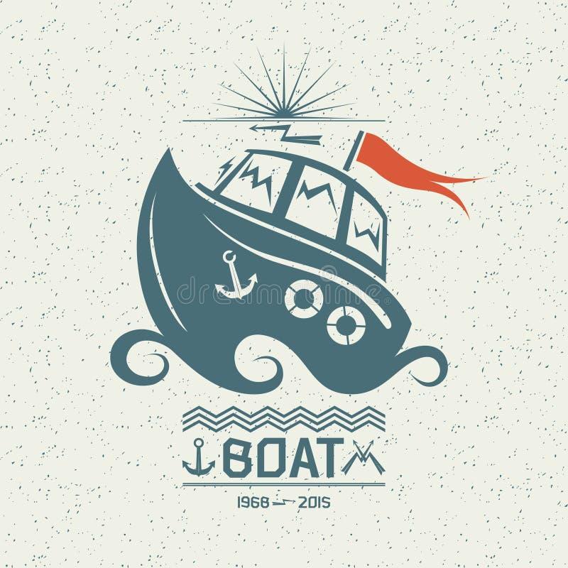 Odważna mała łódka ilustracji