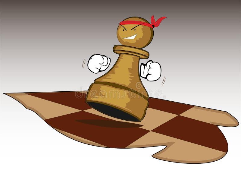 odważna szachowa postać royalty ilustracja
