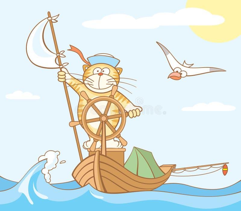 odważny czerwony podróżnik ilustracja wektor