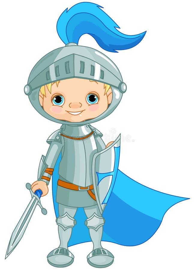 Odważny rycerz ilustracja wektor