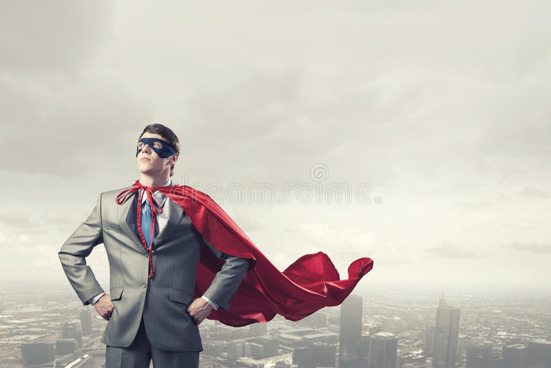 Odważny super bohater zdjęcia stock