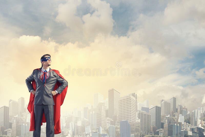 Odważny super bohater obraz royalty free