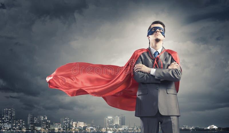 Odważny super bohater zdjęcie stock