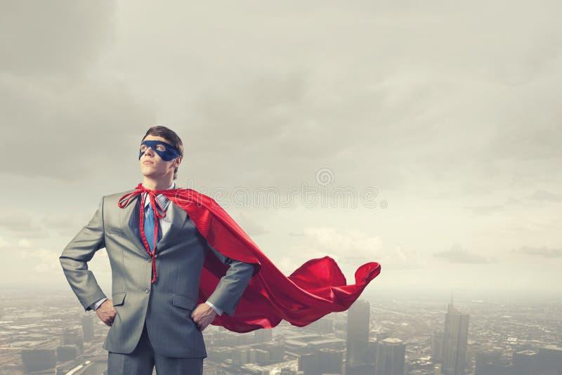 Odważny super bohater obrazy royalty free