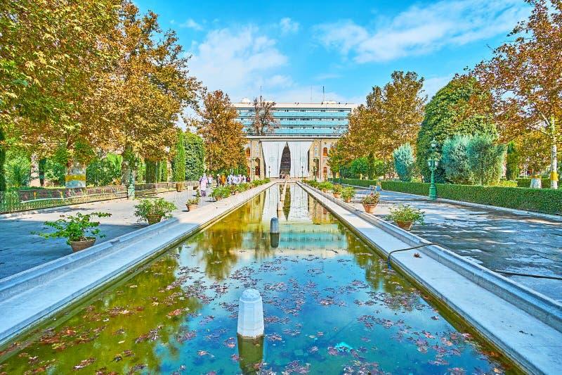 Odwiedzać Golestan pałac kompleks, Teheran obraz stock