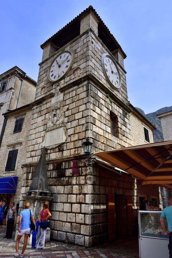 Download Odwiedzać Zegarowy Wierza Kotor Montenegro Obraz Editorial - Obraz złożonej z montenegro, tury: 106924345