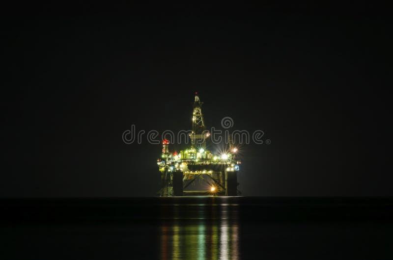 Odwiert naftowy platforma obraz stock
