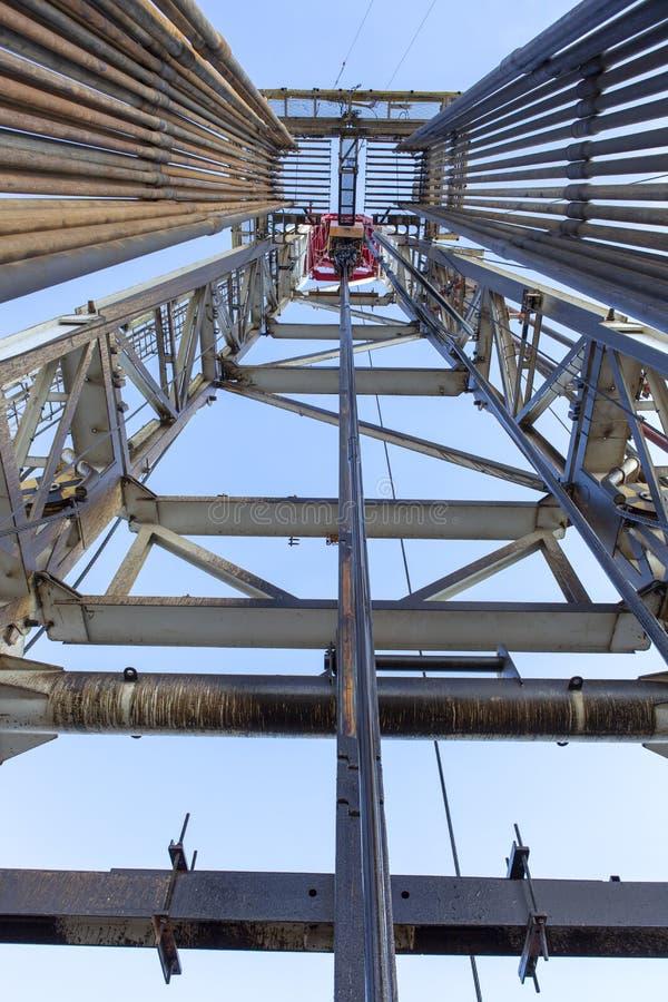 Odwiert Naftowy takielunek Wśrodku widoku zdjęcie stock