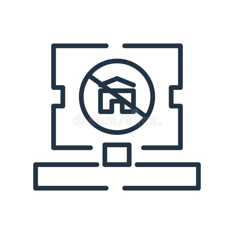 Odwoływa ikona wektor odizolowywającego na białym tle, Odwoływa znaka, ilustracja wektor