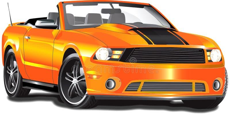 odwracalna pomarańcze ilustracja wektor