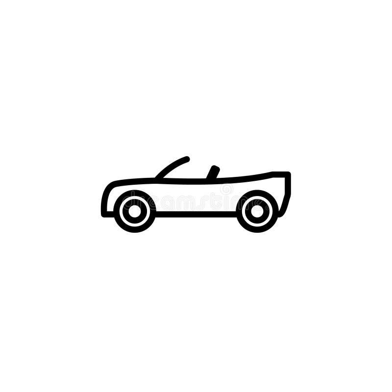 Odwracalny samochodowy ikona zapas transportów pojazdy odizolowywał wektor royalty ilustracja