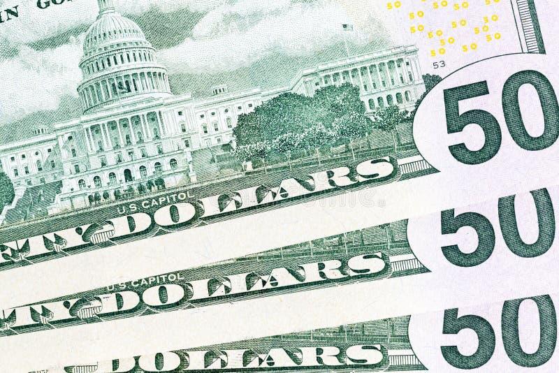 odwrotność dolary zdjęcie royalty free
