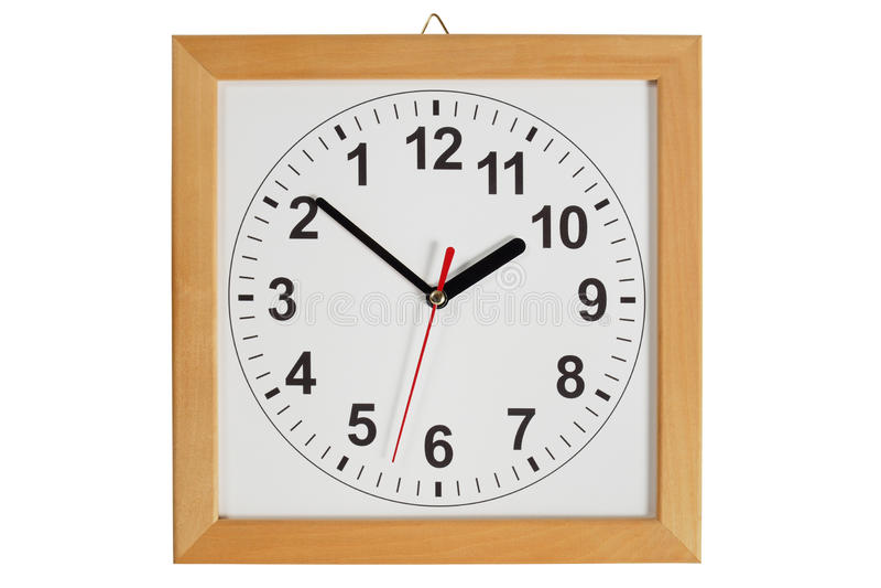 Odwrotny zegar obraz stock