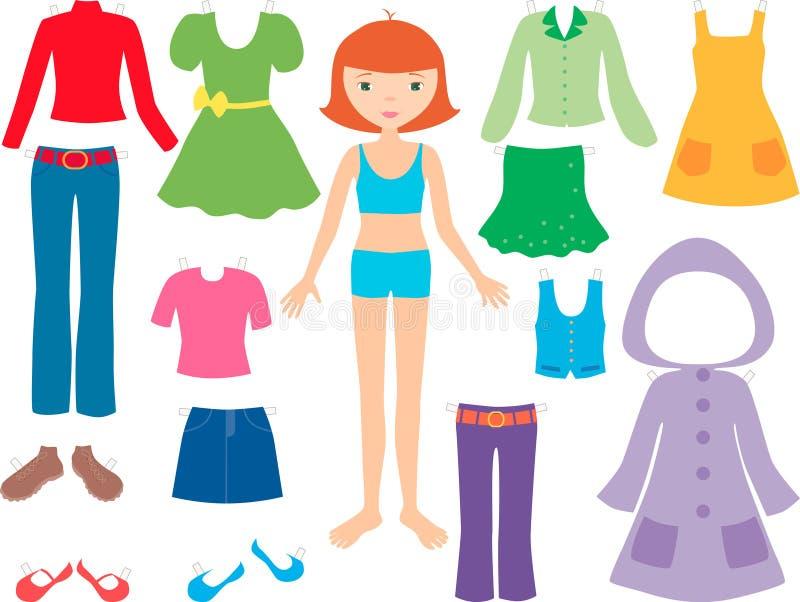 odzieżowa dziewczyna royalty ilustracja