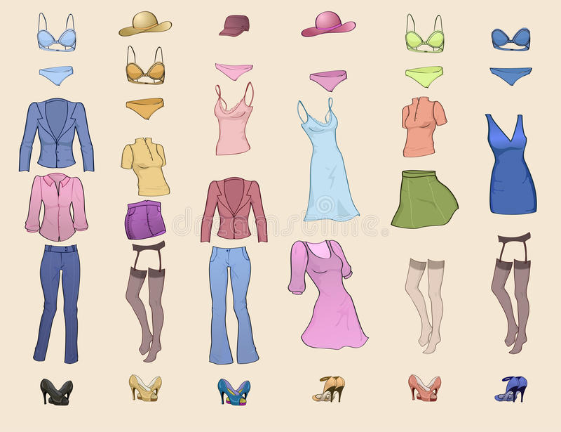 odzieżowe kobiety ilustracji