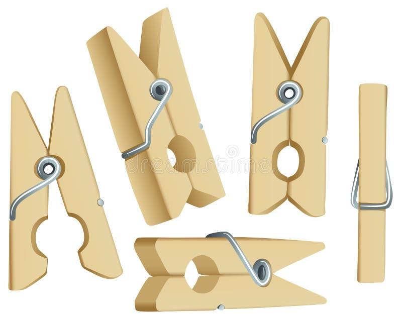 odzieżowe szpilki ilustracja wektor