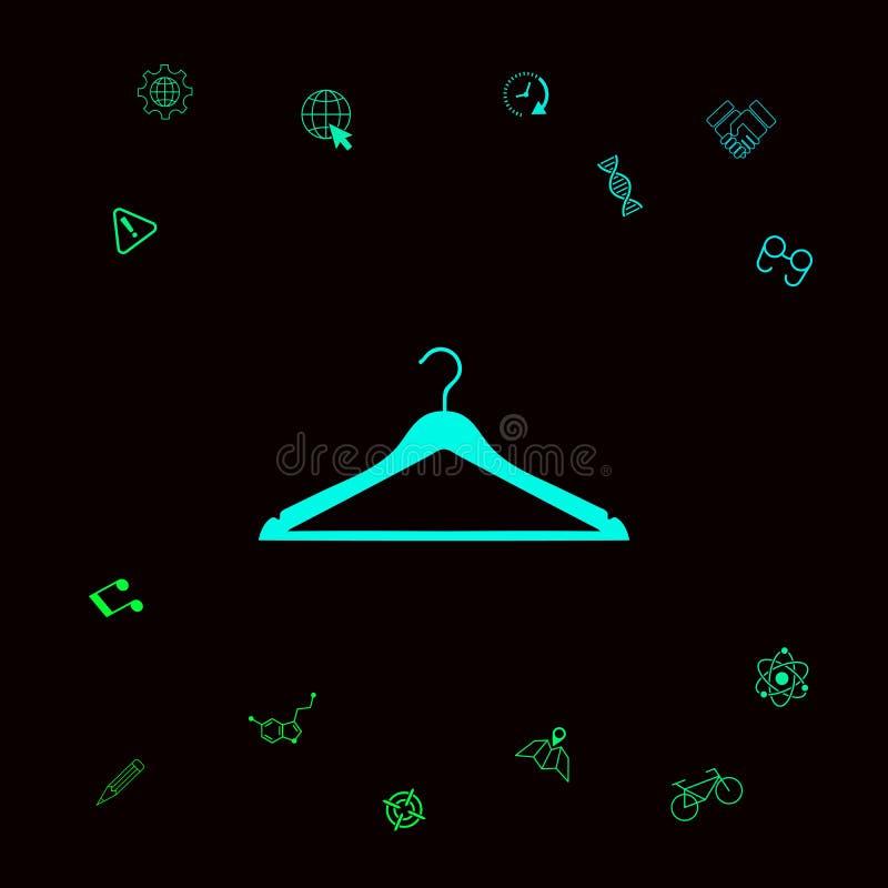 Odzieżowego wieszaka ikona royalty ilustracja