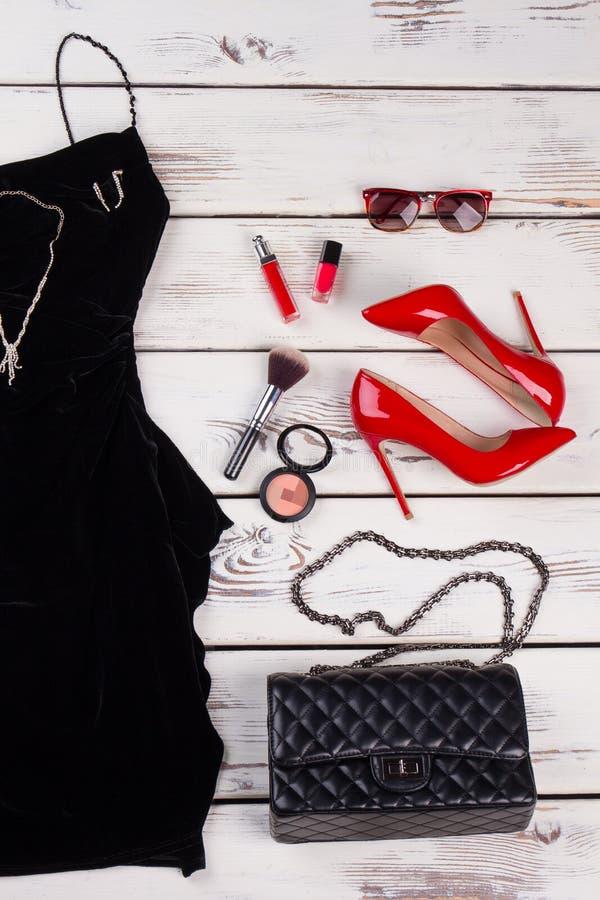 Odzieżowy akcesoria mody set zdjęcie stock