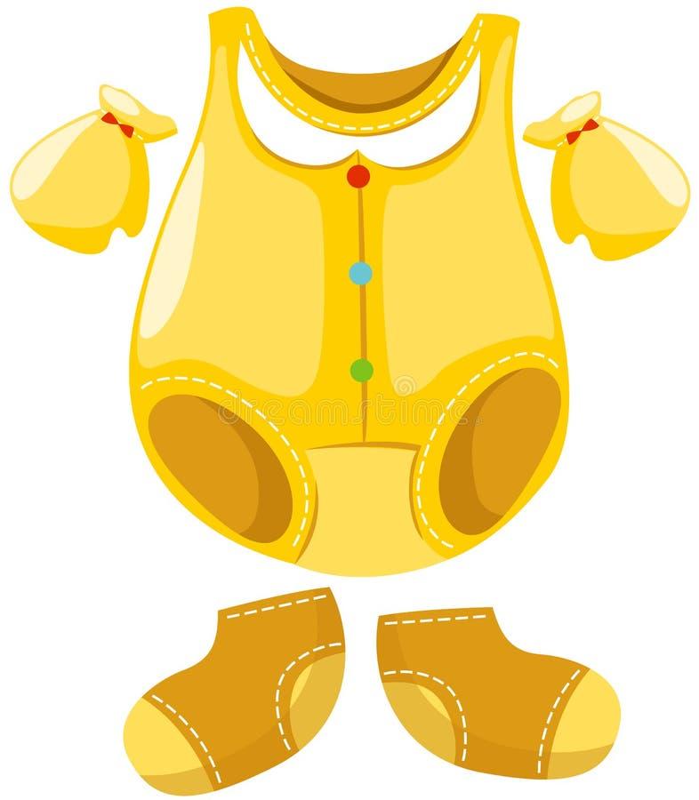 odzieżowy dziecko set ilustracji