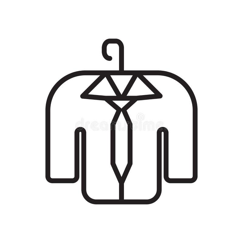 Odzieżowy ikona wektor odizolowywający na białym tle, ubrania podpisuje royalty ilustracja