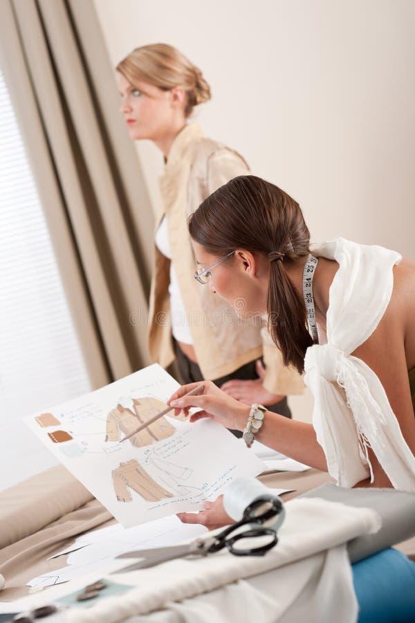 odzieżowy projektanta mody dopasowania model fotografia stock