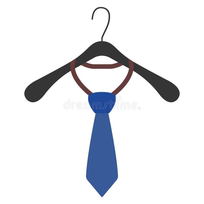 Odzieżowy wieszak z krawata znakiem i ikoną również zwrócić corel ilustracji wektora ilustracja wektor