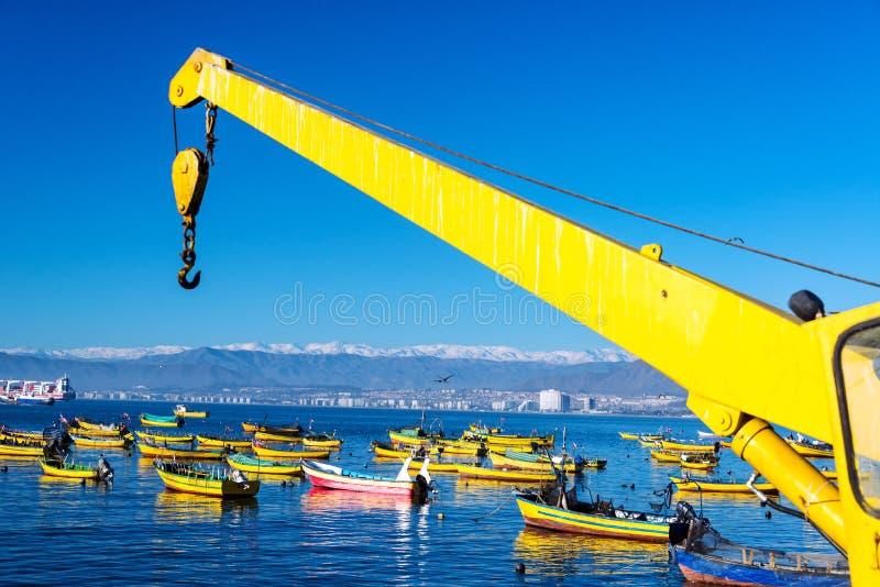 Download Łodzie Rybackie w Coquimbo obraz stock. Obraz złożonej z transport - 41952095
