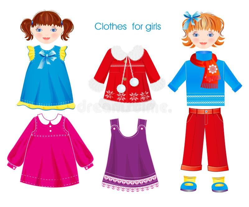 Odziewa dla dziewczyn ilustracji