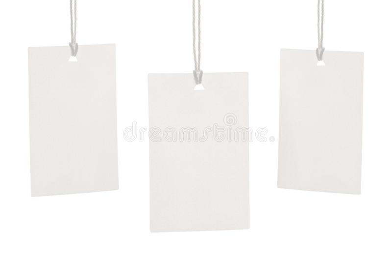 Odziewa etykietki etykietki pustego białego mockup obraz stock