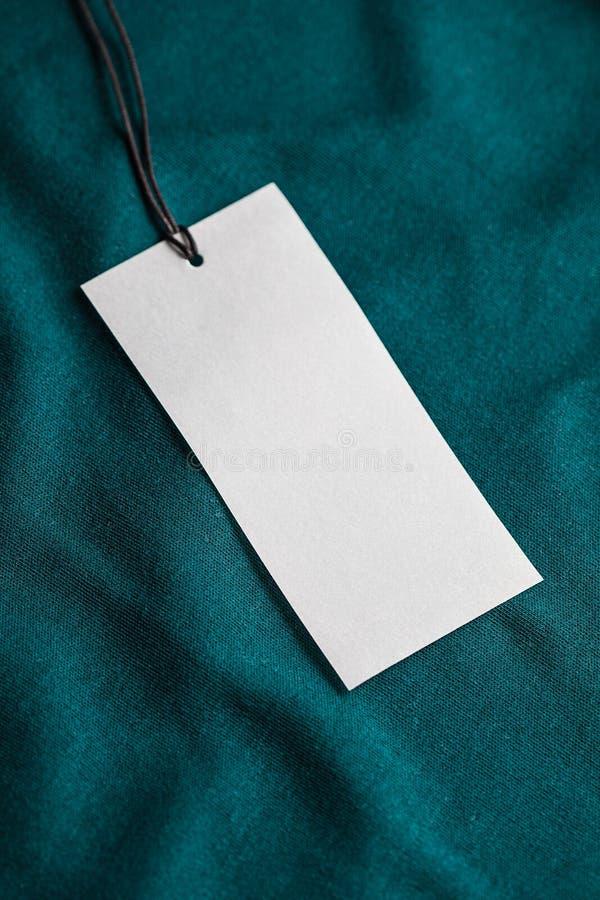 Odziewa etykietki etykietki pustego białego mockup obraz royalty free