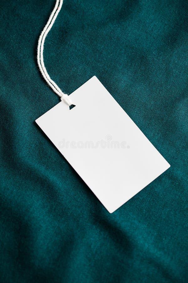 Odziewa etykietki etykietki pustego białego mockup zdjęcia royalty free