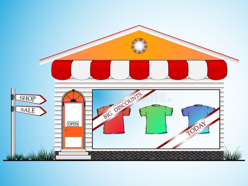 odziewa sklep royalty ilustracja