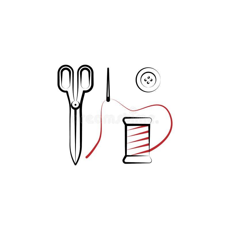 odziewający, naprawa, szy, krawczyny 2 barwiąca kreskowa ikona Prosta barwiona element ilustracja odziewać, naprawa, szy, krawczy ilustracja wektor
