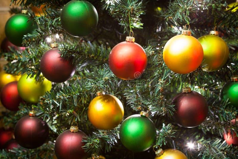 Odznaczenie świątecznego choinki na imprezę i uroczystość obraz stock