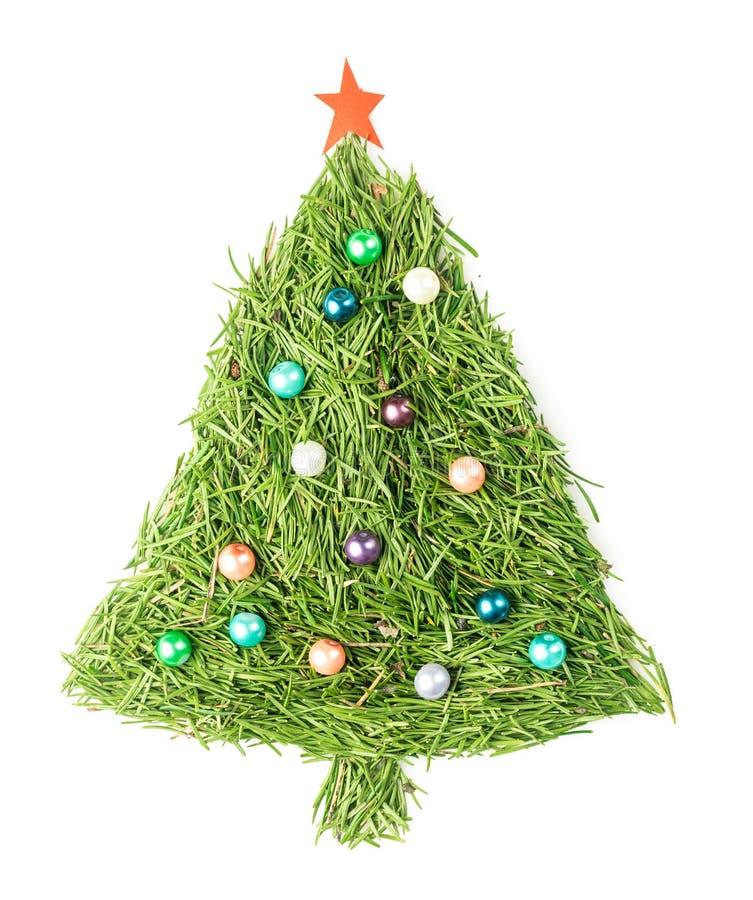 odznaczony świąteczne drzewko zdjęcie stock