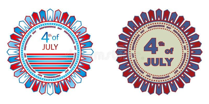 odznak dzień niezależność royalty ilustracja
