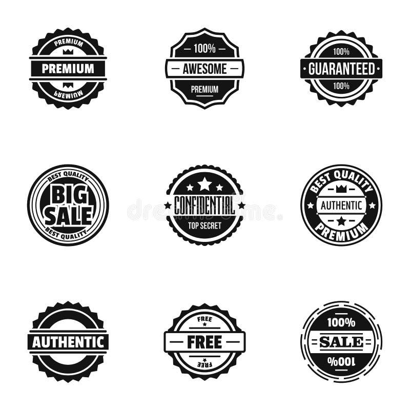 Odznak ikony ustawiać, prosty styl royalty ilustracja