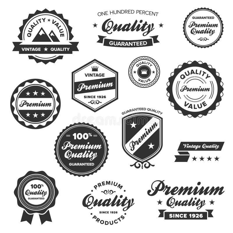 odznak premii rocznik ilustracja wektor