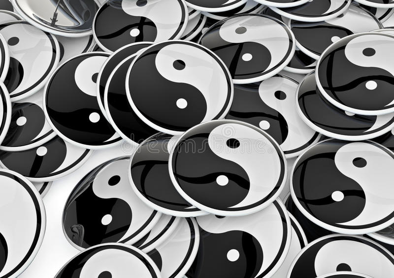 odznak Yang yin ilustracja wektor