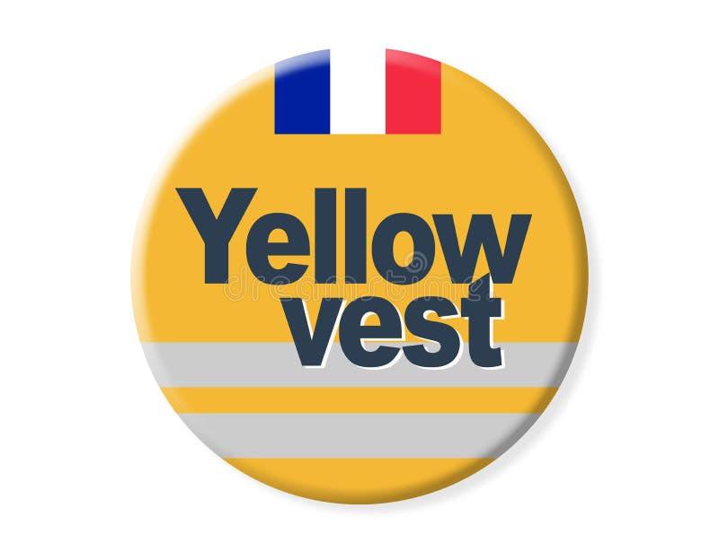 Odznaka - «żółta kamizelka « ilustracji