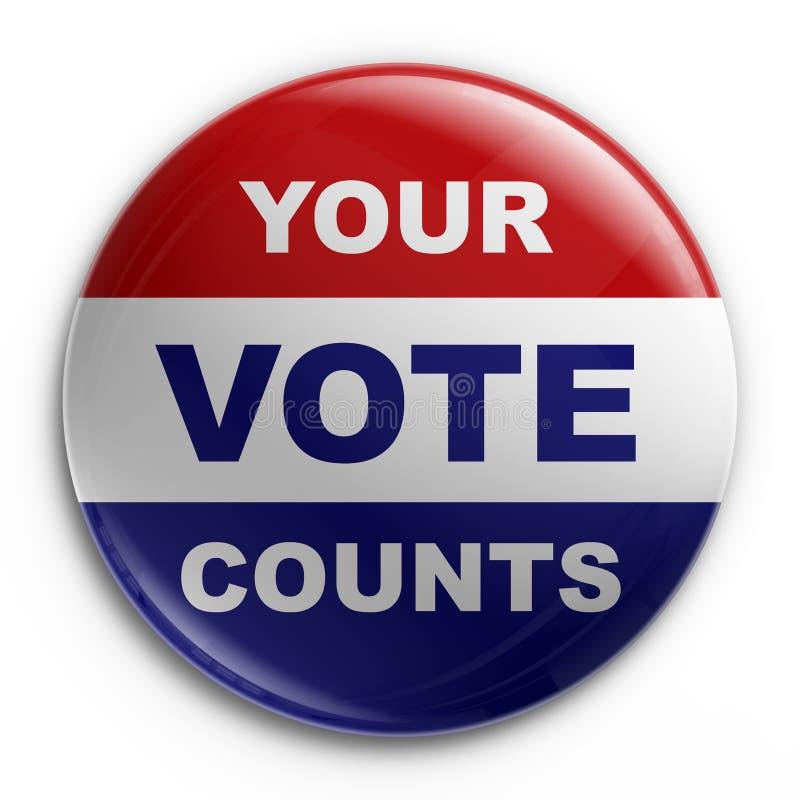 odznaka 2008 wybory ilustracja wektor