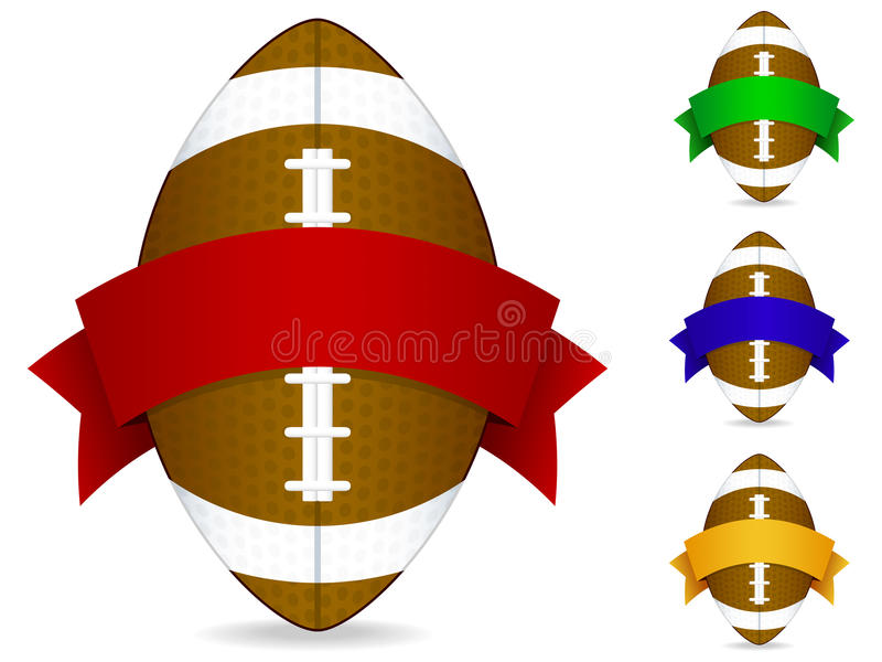 odznaka amerykański futbol royalty ilustracja