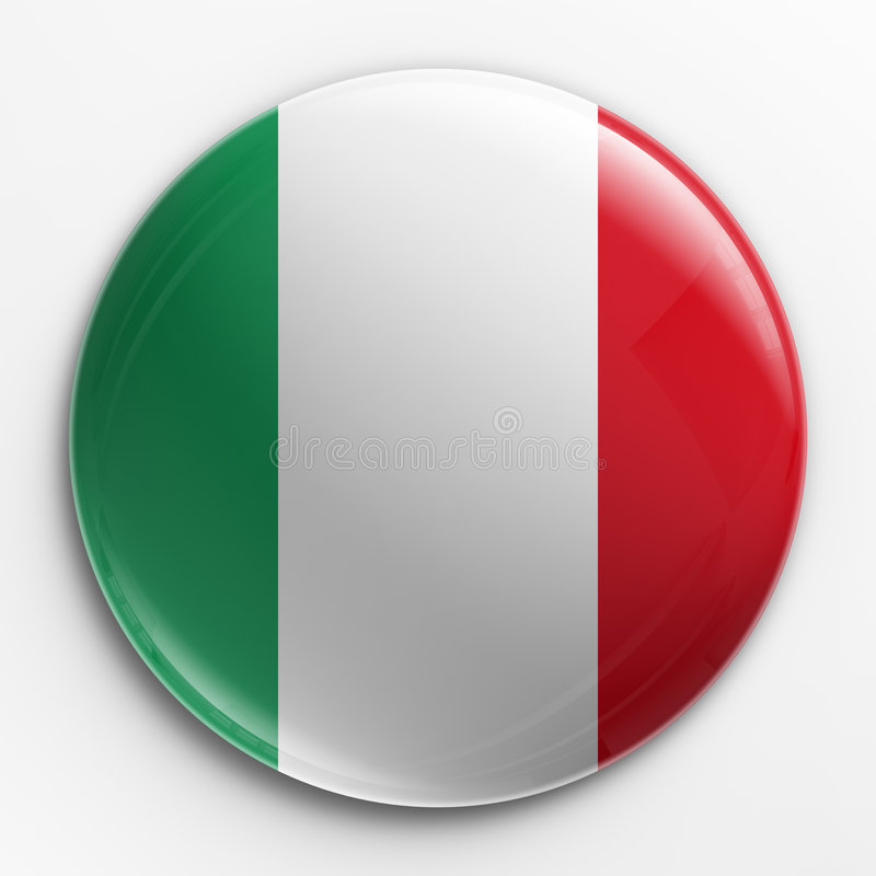 odznaka banderą we włoszech ilustracja wektor