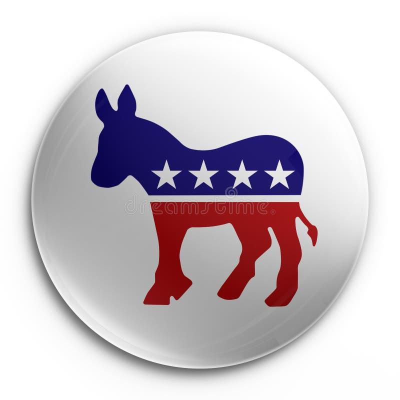 odznaka demokratycznej. royalty ilustracja