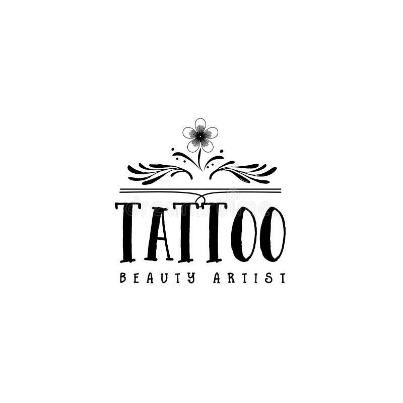 Odznaka dla małych biznesów dla projekta, ręki robić - piękno salonu tatuażu artysty majcher, znaczek, logo - Z use ilustracji