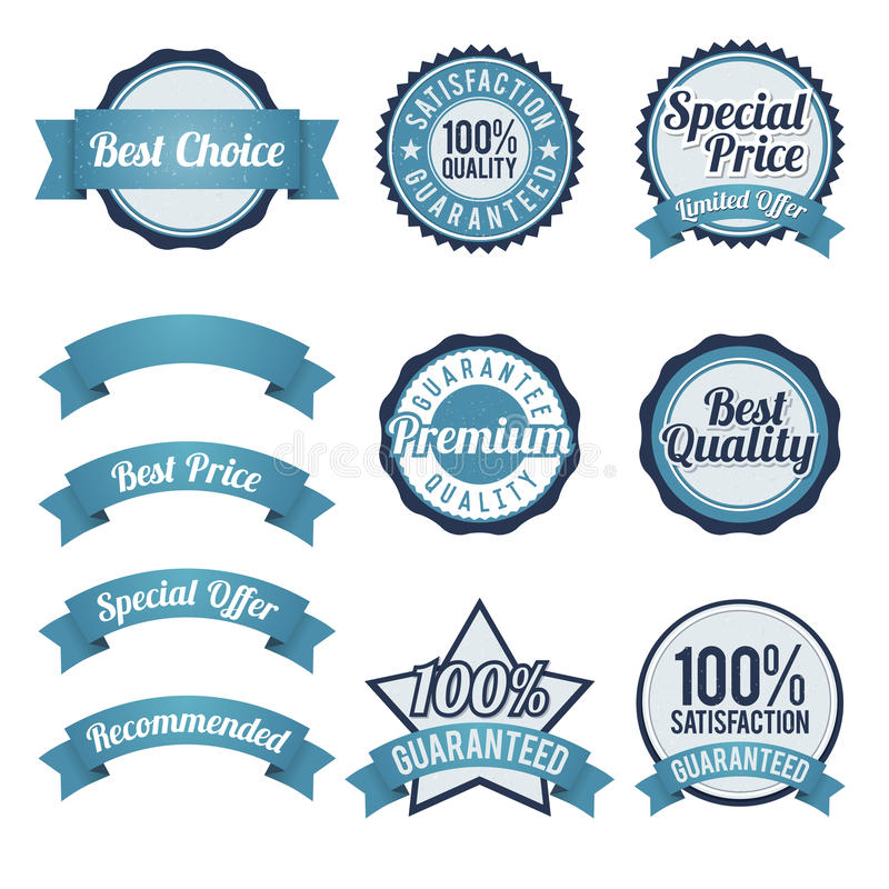 Odznaka i Tasiemkowi projektów elementy ilustracji