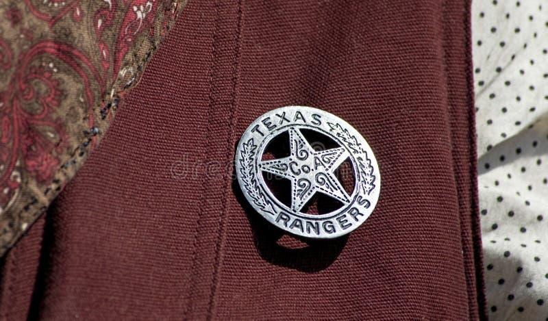 odznaka leśniczy Texas zdjęcia stock